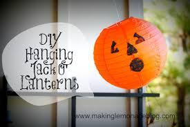 pottery barn halloween decor pottery barn knock off hanging pumpkin lanterns making lemonade