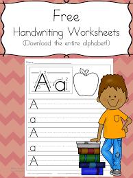 handwriting free handwriting practice worksheets for kids