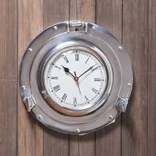themed wall clock nautical wall clocks for wall decoration med home design posters