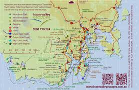 map of tasmania australia map of southern tasmania accommodation attractions and