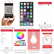 Led Night Light Bulb by 1byone App Controlled Bluetooth 4 0 Speaker Multicolored Led