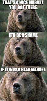 Patient Bear Meme - bull vs bear markets what do they mean