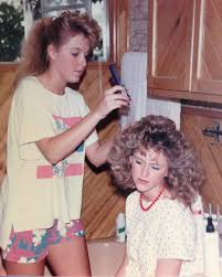 sister curls her brother hair tbt to that time my sister fixed my hair nanaloo68 bighair