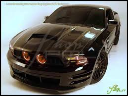 Automotive Led Lights Bulbs by Oracle 10 12 Ford Mustang Gt Led Dual Color Halo Rings Head Fog