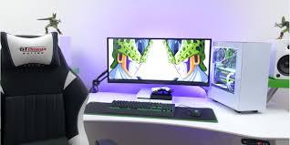 gaming setup desk best desks for gaming setups good techsource green setup desk