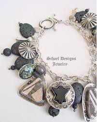 charms bracelet designs images Schaef designs anasazi pottery shards amber new lander sterling jpg