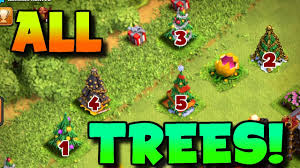 clash of clans this player has every single christmas tree since