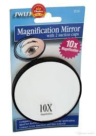 Wall Mounted Magnifying Mirror 10x 10x Makeup Mirror Magnified Travel Magnifying Mirror With Sucker