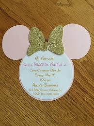 oh twodles pink gold minnie mouse glitter invitations minnie