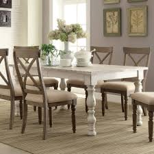 dining room contemporary washed wood dining table white dining