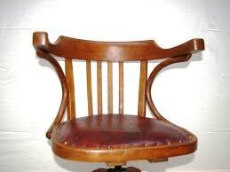chaise de bureau en bois à assise fauteuil de bureau bois cuir et métal jpg chaises