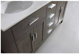 double sink bathroom vanity kalize 63 french gray finish hand