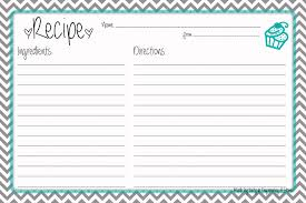 printable recipes templates recipe template for word ideal portrait besides blank full page
