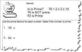practice factoring prime numbers worksheets