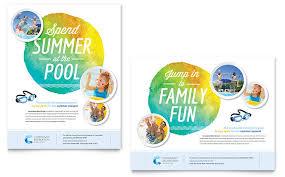 design poster buy community swimming pool poster template design