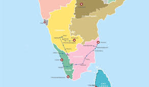 Kerala India Map by Grand South India Group Tour Operated By Max Holidays