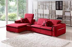 fabric sectional sofas with chaise furniture amusing red fabric sectional sofas on glossy white
