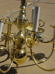 Brass Chandelier Makeover Remodelaholic Diy Brass Chandelier Makeover