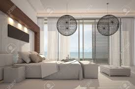 modern white bedroom interior stock photo picture and royalty