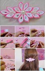 how to make kanzashi flower hairclip usefuldiy