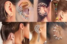 ear cuffs for pierced ears trending ear cuffs not earrings silhouette trend