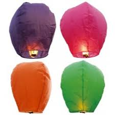 fireworks lantern mini sky lantern assorted colors