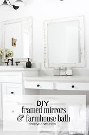 white framed mirrors for bathrooms farmhouse bathroom diy framed mirrors simply kierste design co