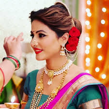 akshara wedding hairstyle hina khan maharashtrian makeup look mugeek vidalondon