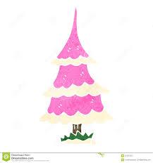 retro cartoon pink christmas tree stock photography image 37587262