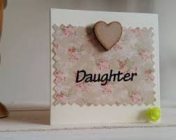 special daughter birthday card gold and pink deco style