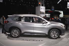 small subaru car 2018 subaru ascent suv revealed in new york the drive