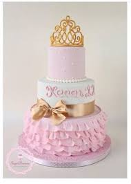 baby shower lavender and white princess tiara cake with matching