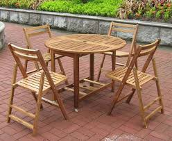 Patio Table Wood Folding Outdoor Table And Chair Sets Gccourt House