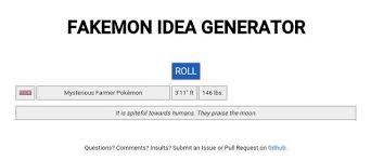 so i made a fakemon idea generator pokemon