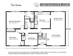 ranch floor plans with basement essex by westchester modular homes ranch floorplan