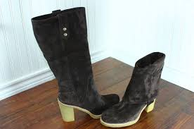 ugg womens josie heeled boots stout womens ugg josie size 5 11 stout suede leather convertible