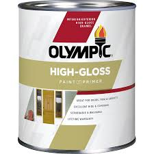 shop olympic base 5 high gloss acrylic enamel interior exterior