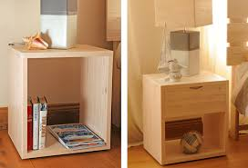 Tall Cube Bedside Table Handmade Wood Wooden Uk Matching Bed - Non toxic bedroom furniture uk