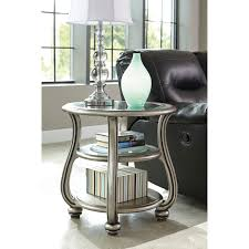 Ashley Furniture End Tables Coralayne Round End Table By Ashley Furniture T820 6 Ashley