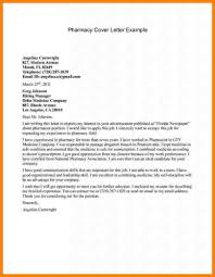 resume cover letter examples pharmacist