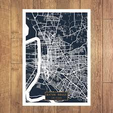 map of baton baton louisiana city map baton louisiana print