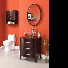 bathroom dark cherry 24 bathroom vanity bypass door cabinet and