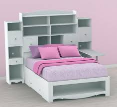 Bookcase Storage Bed King Bookcase Headboard Storage Bed Home Design Ideas