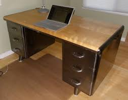 Vintage Metal Office Desk Furniture Moving Sale