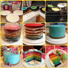 rainbow cake my little pony theme used food coloring gel for the