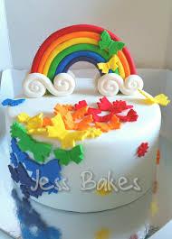 butterfly cake rainbow butterfly cake jess bakes