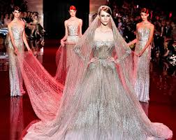 elie saab wedding dresses elie saab s extravagant wedding gown