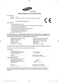declaration of conformity electronics samsung ue37d6000tw user