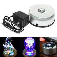 lighted display stand for glass art electric rotating display ebay