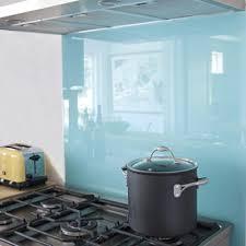 DIY Solid Glass Kitchen Backsplashes To Install Yourself - Solid glass backsplash